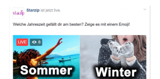 FacebookLive Voting Abstimmung