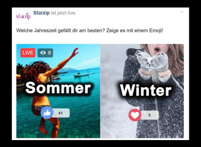 FacebookLive Voting Abstimmung