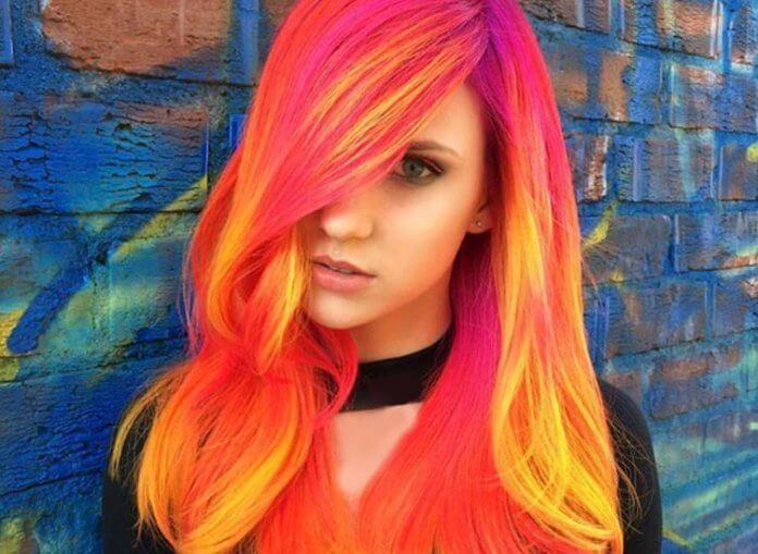 Phoenix Neon Glow Hair Diese Haarfarbe Leuchtet Um Dunkeln Starzip