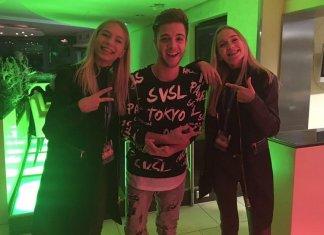 Lisa und Lena mit Luca Hänni