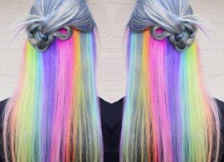 Rainbow Underlights Hair Regenbogen Haare