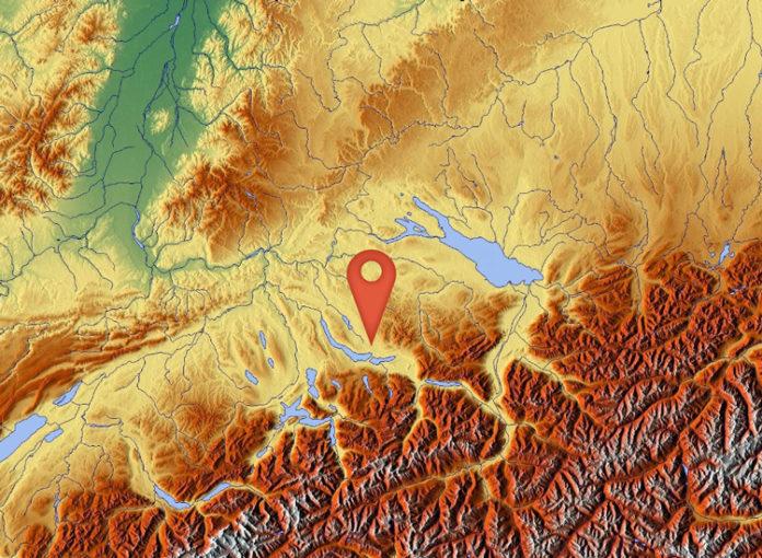Erdbeben in der Schweiz: Die Markierung zeigt den Epizentrum des Bebens, das auch in Teilen von Süddeutschland und Österreich wahrgenommen werden konnte.