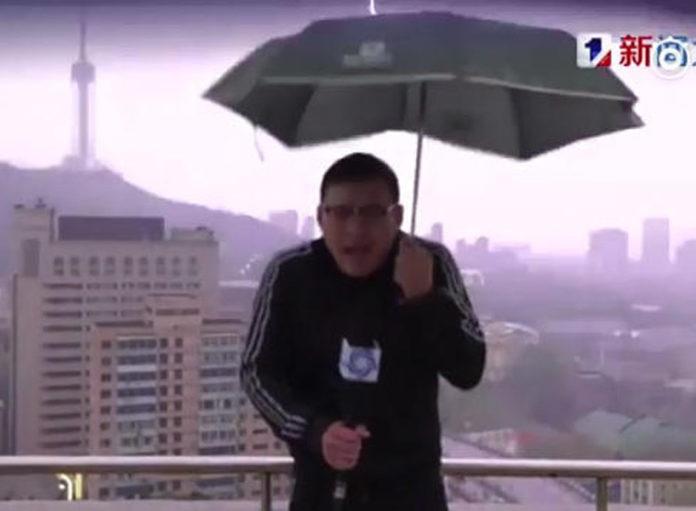 Blitz trifft Wettermoderator
