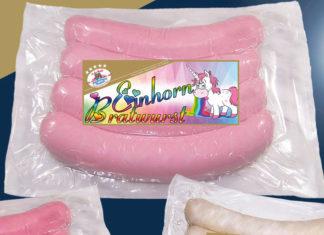 Einhorn Bratwurst in pink