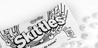 Skittles sind weiß