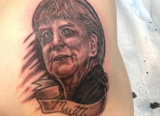 Angela Merkel Tattoo
