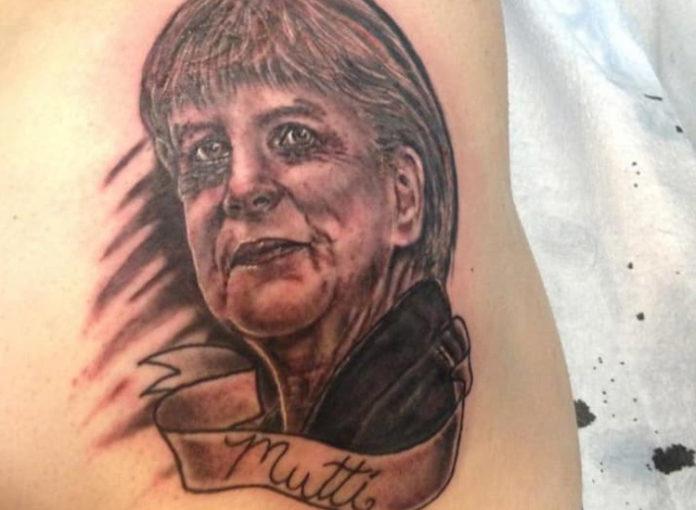 Angela Merkel Tattoo