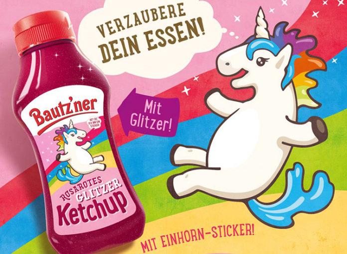 Einhorn Glitzer Ketchup von Bautzner