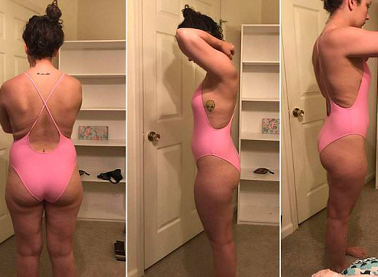 Tori Jenkins und ihr rosa Badeanzug