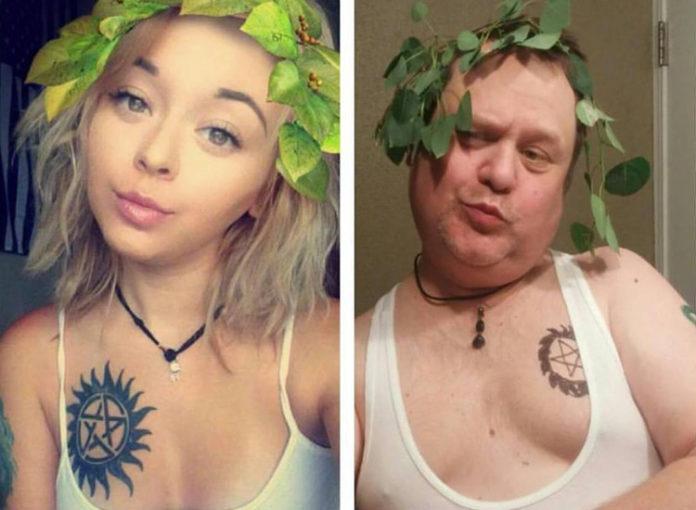 Vater stellt Fotos der Tochter auf Instagram nach