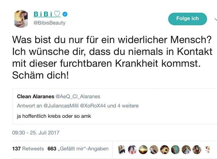 Bibis Beauty Palace Rastet Auf Twitter Aus Du Widerlicher Mensch