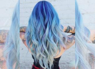 Ocean Hair: Blaue Haare sind trendy