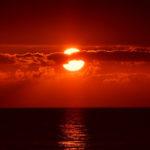 Rote Sonne über Deutschland