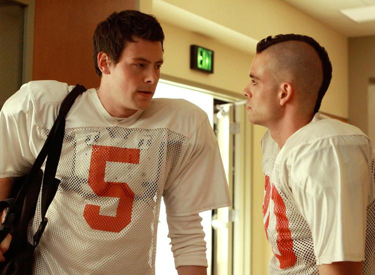 Mark Salling und Cory Monteith Glee Serie