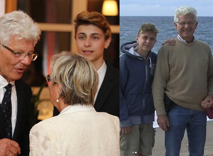 Lukas Rieger mit seinem Opa