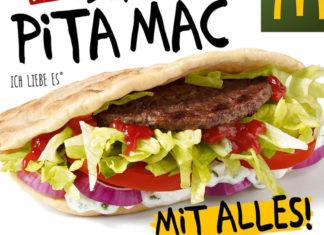 Pita Mac gibt's jetzt bei Mc Donalds