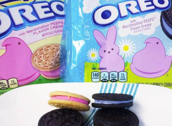 Neue Oreo Sorte zu Ostern: Peeps Oreo mit Mashmallow Creme