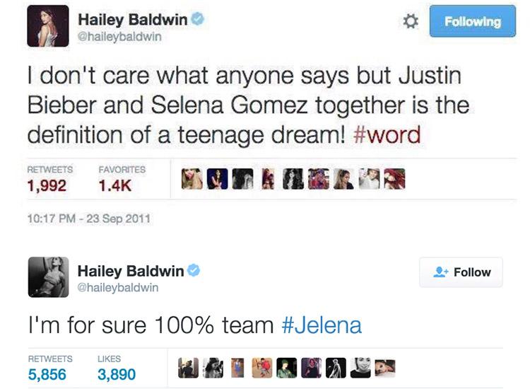 Hailey Baldwin: Tweet über Justin Bieber und Selena Gomez