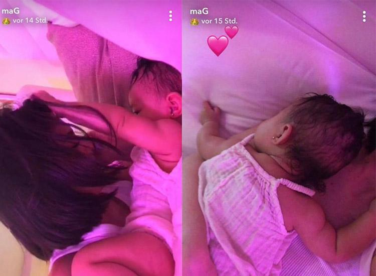 Kylie Jenner zeigt Ohrlöcher von Stormi auf Snapchat
