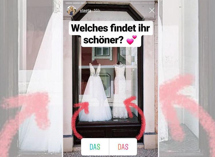 XLaeta zeigt zwei Hochzeitskleider