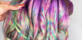 Wasserpistolen-Haare sind der neue Haarfarben-Trend 2019