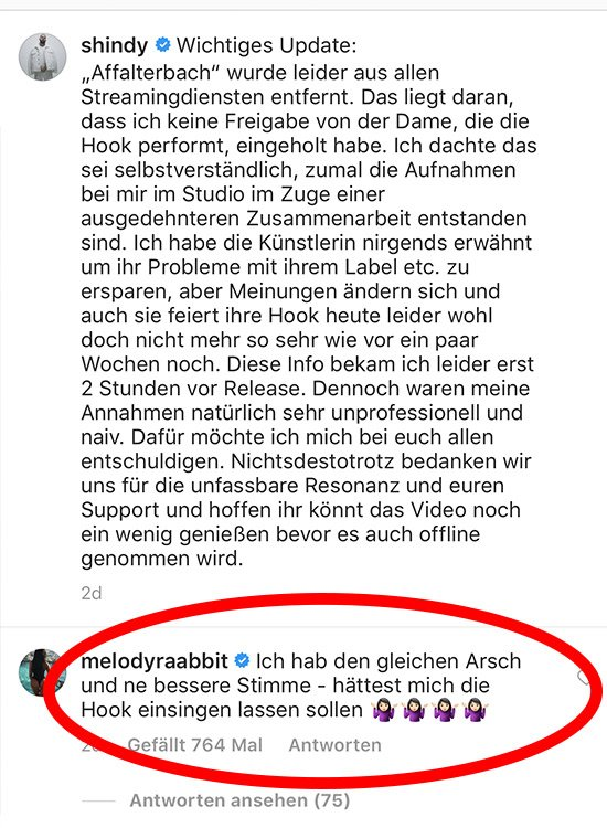 Reality Girl Melody Haase greift Shirin David an.