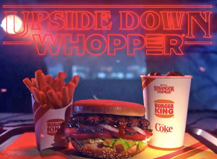 Stranger Things 3 Upside Down Whopper Burger king