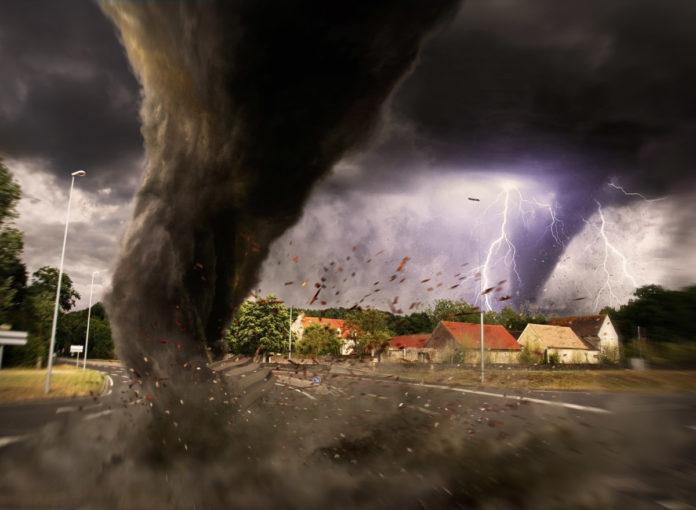 Ein Tornado wütete in Deutschland in der Stadt Bocholt