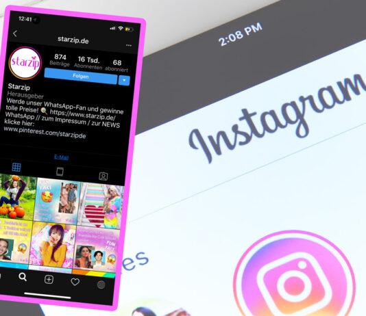 Instagram schwarz im Dark Mode